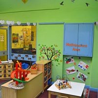An area with play equipment for learning to count